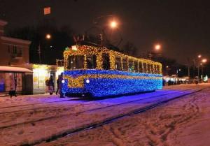Праздничное освещение транспорта
